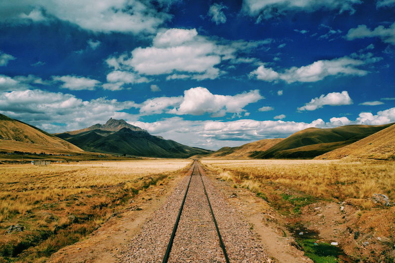 Taken in Peru. Cloud - Sky The Way Forward Mountain Landscape Scenics Sky OutdoorsEyeEm Selects Nature South America Beauty In Nature Peru Desert Travel Destinations Day No People Beauty In Nature Rails Railway Railtrack Lost In The Landscape