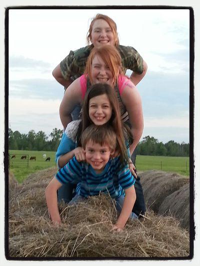 Pic Of My Folks Places& Kids Playn N Hay