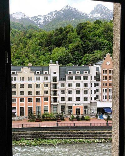 Niceview from the window of Goldentuliphotel Rosakhutor Сочи Sochi КраснаяПоляна Adventurewithsaidakow