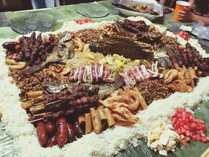 Kamayan Birthday Dinner Familyfirst Filipino Food Blessed  Love Life