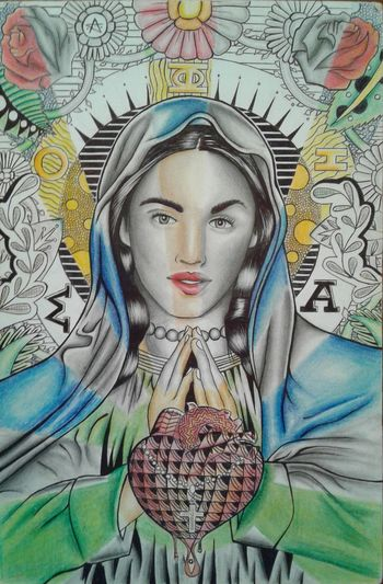 Goddess drawing I did. Goddess Sophia Wisdom Mother Isis Astarte Diana Hecate Demeter Kali Inanna Virgin Mary Art Religion Spirituality Love Peace ✌ Compassion Drawings Style ✌ Art And Craft Alchemy Goodvibes Positive Positive Vibes