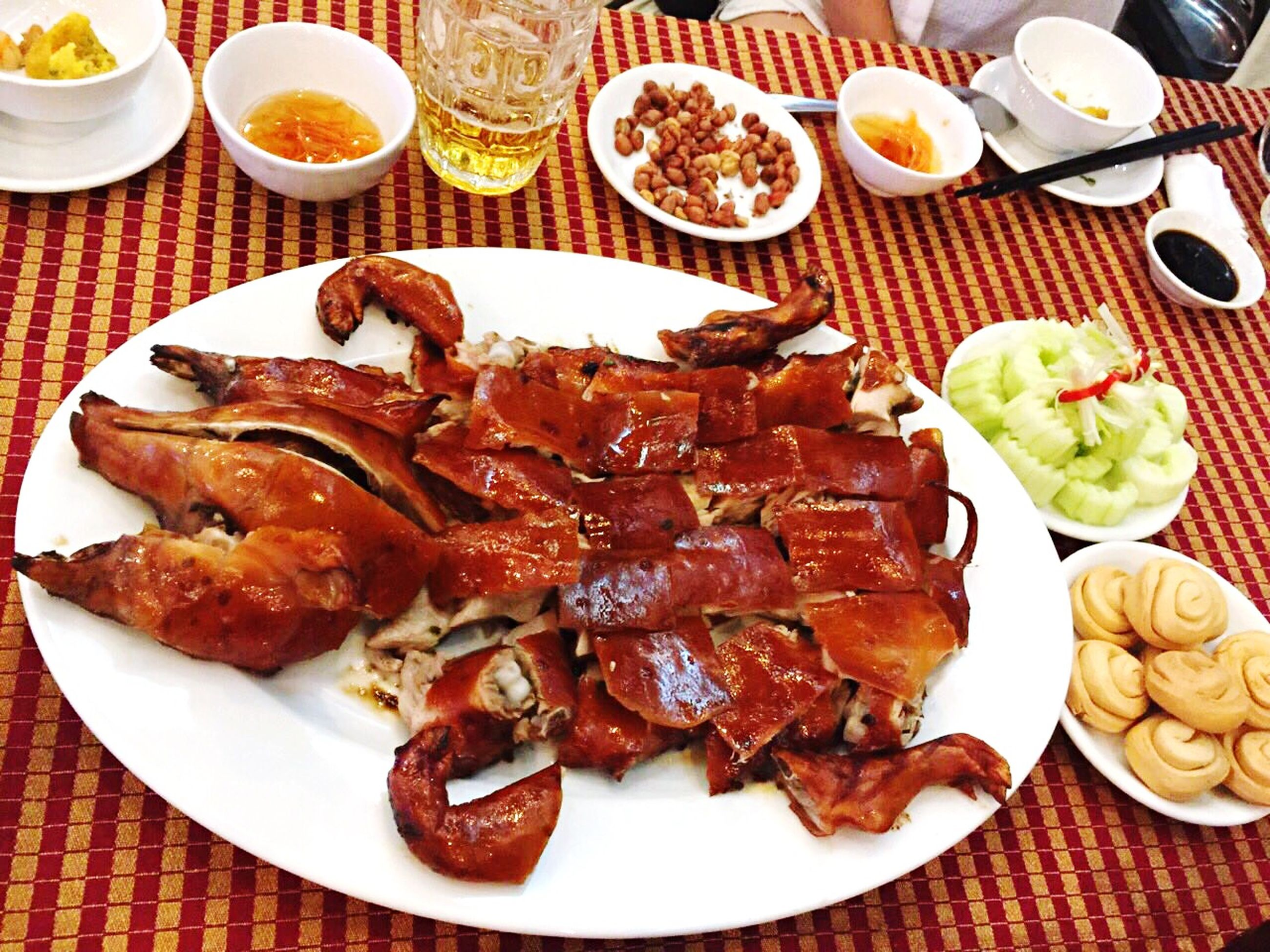 food and drink, food, plate, freshness, ready-to-eat, indoors, table, still life, meat, serving size, meal, healthy eating, served, high angle view, sauce, close-up, seafood, fork, indulgence, salad