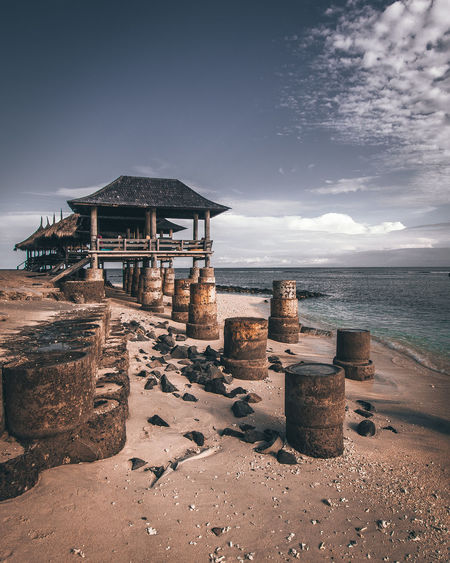Life's better on the island Architecture Beach Beauty In Nature Building Building Exterior Built Structure Cloud - Sky Day Horizon Horizon Over Water Land Nature No People Scenics - Nature Sea Sky Tranquil Scene Tranquility Water