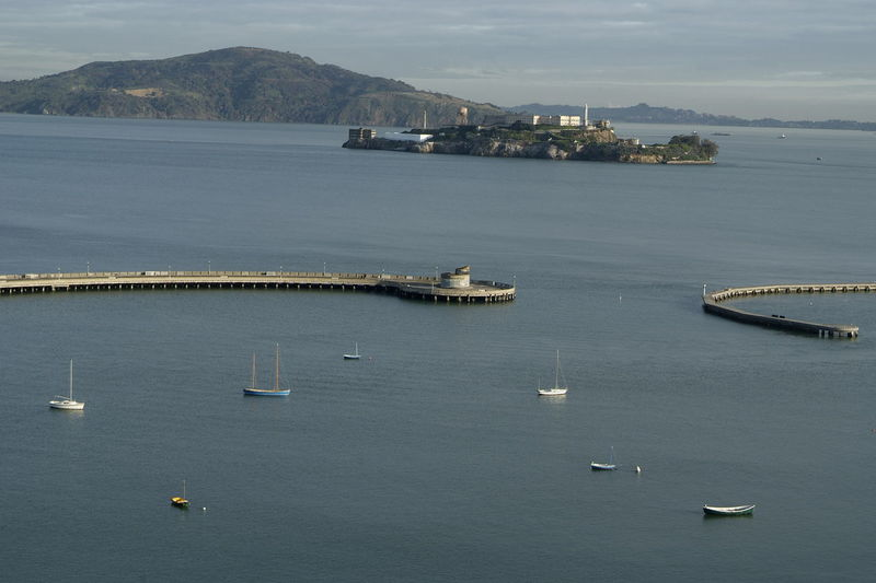 Boat City Harbor San Francisco - Alcatraz Sea Transportation Travel Water