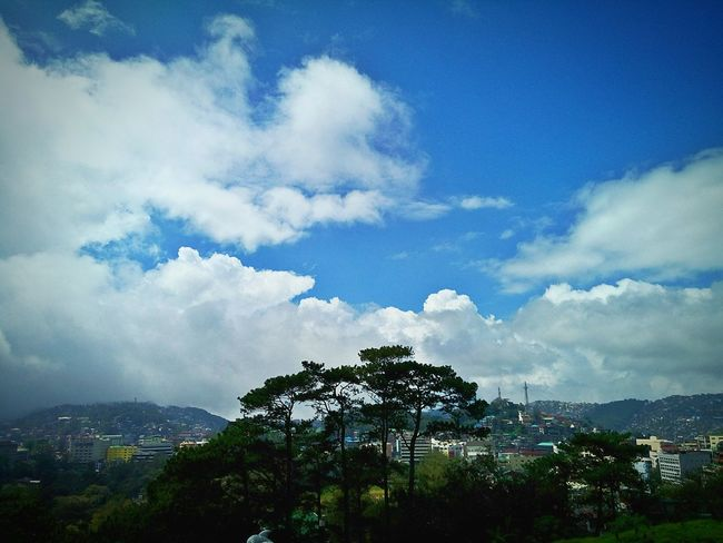 Sunnyday☀️ Clouds And Sky Mountains And Sky Relaxing Eyeem Philippines Blue Skies Mountain View Mountains