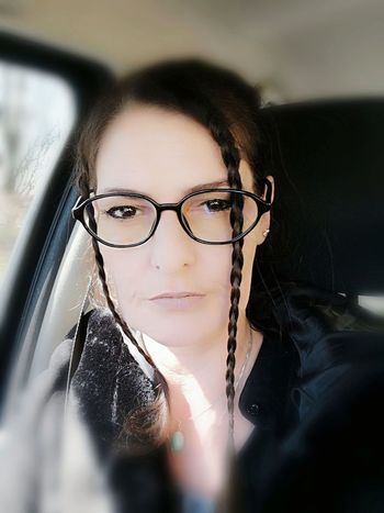 Young Women Portrait Eyeglasses  Women Looking At Camera Confidence  Headshot Business Close-up