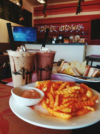 Let's have Cofee Highway Bistro Frappeaddict Fries Fries Fries Monticristo