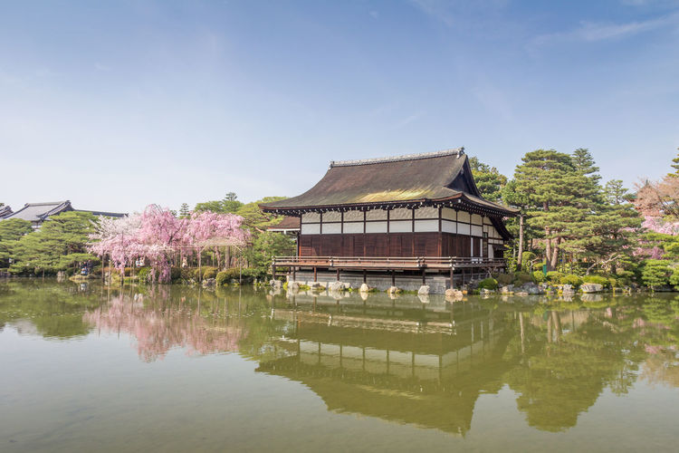 Old Royal Palace in Kyoto Japan Kyoto Kyoto,japan Kyoto, Japan Kyoto Palace Palace Royal Palace Royal Palace Kyoto Reflection Architecture Built Structure Water Sky Building Exterior Lake Waterfront Day Nature Building Plant No People Tree Place Of Worship House Outdoors Travel Destinations Religion
