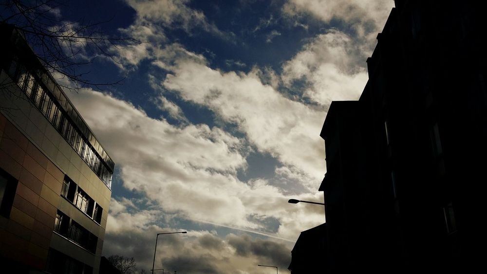 Clouds And Sky Contrast Silhouettes Streetphotography Architecture Skylover Urbanphotography Sky And Clouds Aachen Building Buildings Silhouette Cloudobsession Skyobsessed Taking Pictures No People