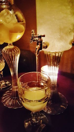 Drop Indoors  No People Table Alcoholic Drink Alcohol Candle Indoors  Food And Drink Refreshment Cocktail Drinking Glass Drink Absinthe Fountain Absintheglass Absinthe Party Absinthe Bar Prague Hemingway Bar