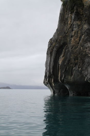 Aysen Beauty In Nature Cliff Eroded Lago General Carrera Puerto Río Tranquilo Rock Formation Rough