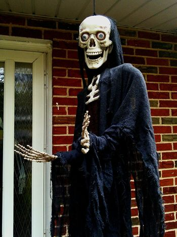 Beware of the GRIM REAPER Tonight! Halloween Halloween Decorations Halloween Horrors Spooky Portrait Looking At Camera Horror One Person Adults Only One Man Only Jewelry Corporate Business Indoors  People Well-dressed Human Body Part Adult Millionnaire
