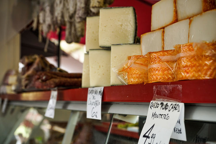 Close-up of food for sale at store