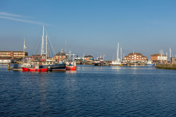 Hartlepool Marina Hartlepool County Durham Water Transportation Nautical Vessel Architecture Waterfront Mode Of Transportation Sky Sea Harbor Nature Built Structure Ship City Building Exterior No People Shipping  Freight Transportation Commercial Dock Pier Outdoors Sailboat Passenger Craft