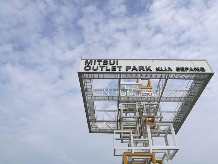 Mitsui Outlet Park @ KLIA Sepang Cloud - Sky Sky Day No People Outdoors Architecture Mitsuioutletpark Mitsui Kuala Lumpur Klia