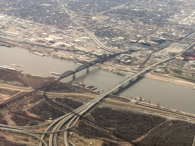 Aerial View Architecture Bridge - Man Made Structure City Day High Angle View No People Outdoors River Road Transportation View From Above View From An Airplane Water