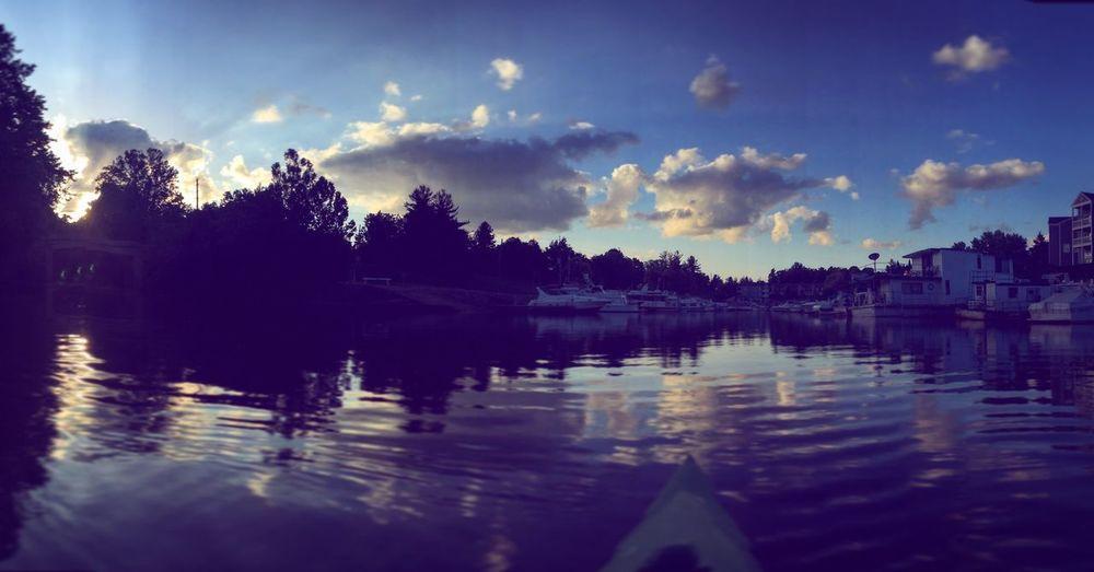 Kayak Kayaking Kentucky  Enjoying The Sun Sunset Sunset_collection Boating Creek River