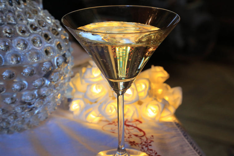 Close-Up Of Drink In Martini Glass