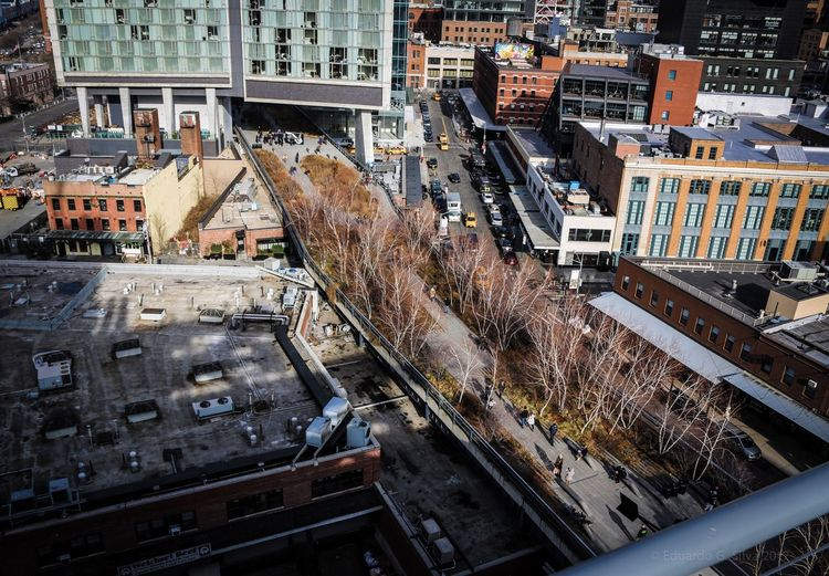 HighLineParkNYC Highline New York City New York New York ❤ New York, New York Manhattan New York City Photos Color High Angle View Urbanphotography Street Photography