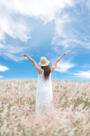Freedom on the world wide ชื่นใจ ฟ้าใส  Sky Freedom Travel Grece Woman Fresh Day Holiday Happy