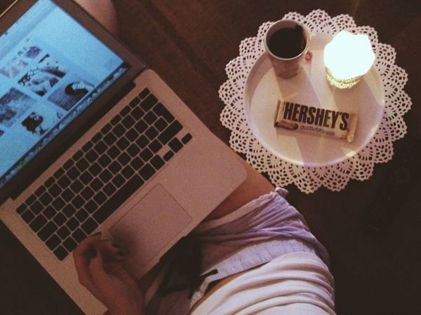 lazy evening Lillifeetee Hershey's We Heart It ☕️