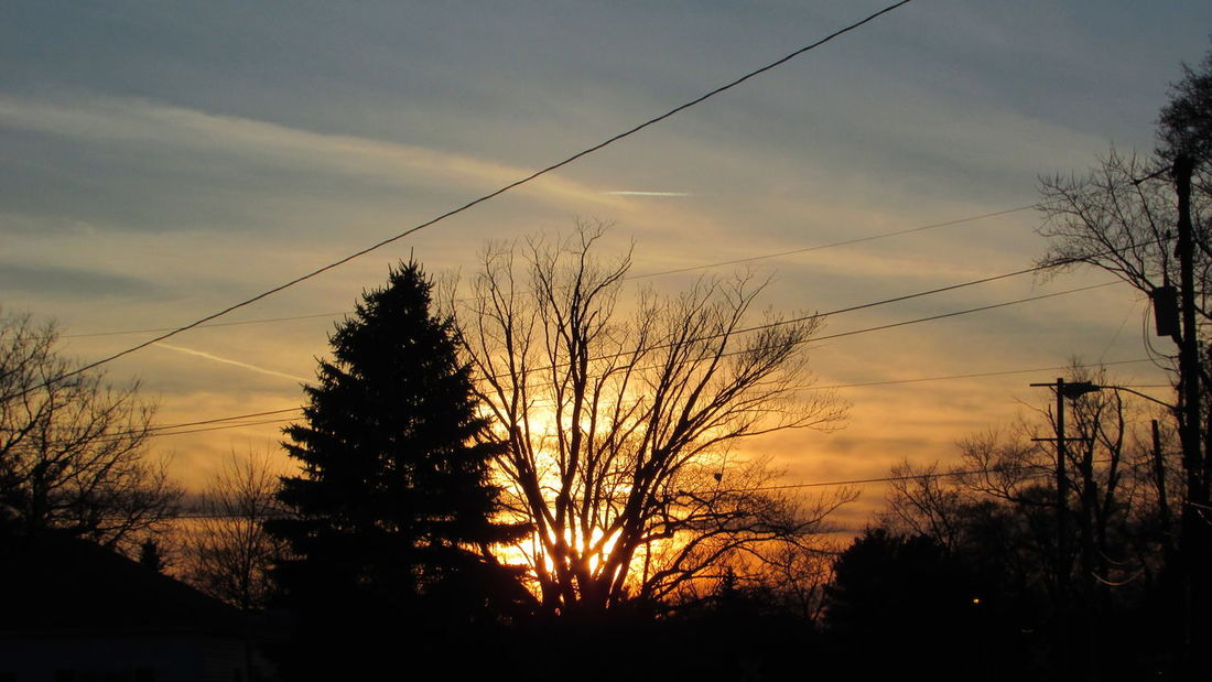 Yesterday's Sunset Down My Street Sign Of Spring Beautiful View Cool_capture_ Cloud_collection  Cadillac Michigan