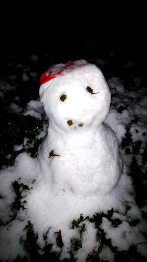 Schneemann, snowman Schnee Schneemann Bauen Kalt Frosty Snow Snowman Weiss Rot Mütze Eyes EyeEm Best Shots Beliebte Fotos EyeEm