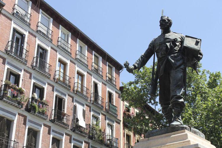Cascorro Architecture Cascorro Human Representation Memories Monument Pedestal Sculpture Statue Street Arquitecture