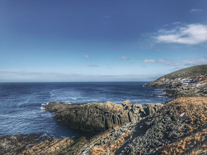 Sea Horizon Over Water Sky Scenics Tranquility Beauty In Nature Water Tranquil Scene Nature Idyllic Outdoors Day No People Newfoundland East Coast Beauty