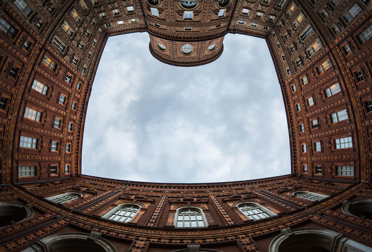 Arch Architecture Building Building Exterior Built Structure Carignano Ceiling City Cloud - Sky Day Directly Below History Italy Low Angle View Nature No People Outdoors Palazzo Carignano Sky The Past Tourism Tower Travel Travel Destinations Turin