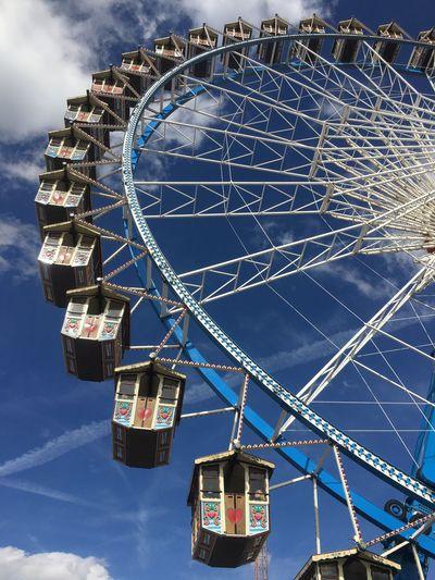 Oktoberfest Amusement Park Ride Amusement Park Ferris Wheel Sky Fairground Arts Culture And Entertainment Low Angle View