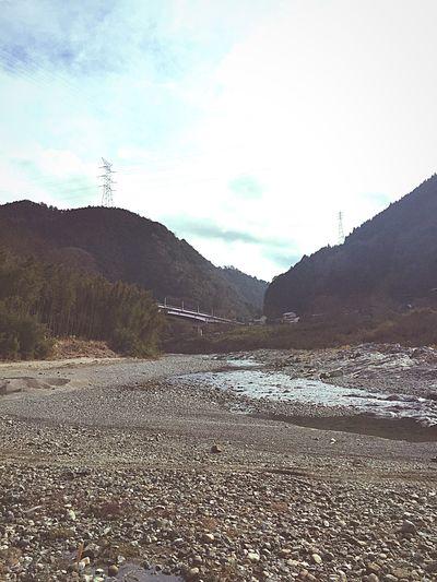 宮滝の朝です。旅に出ています