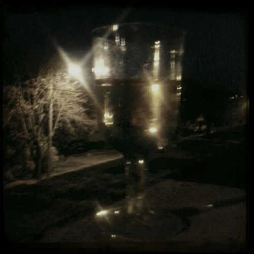 Night Darkness Glass Of Wine Light