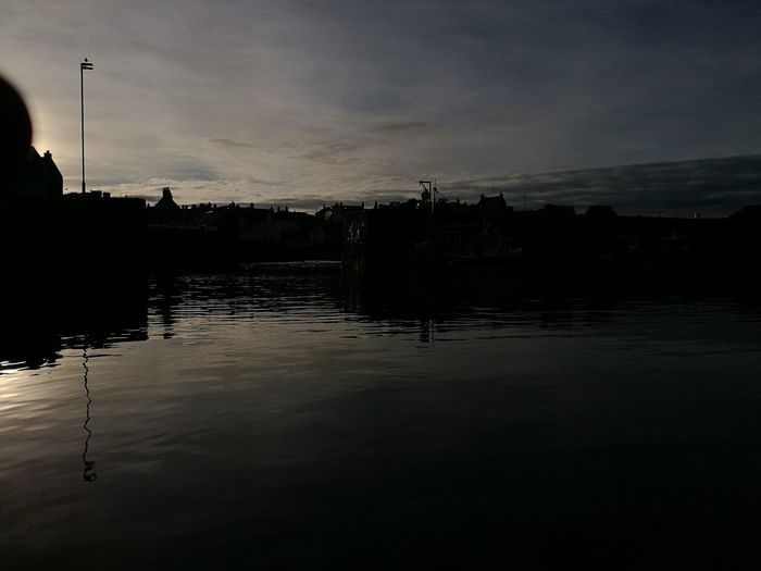 Aberdeenshire Reflection Water Silhouette Nature Sky Cloud - Sky Outdoors No People Day Portsoy Harbour From Kayak Huawei p9