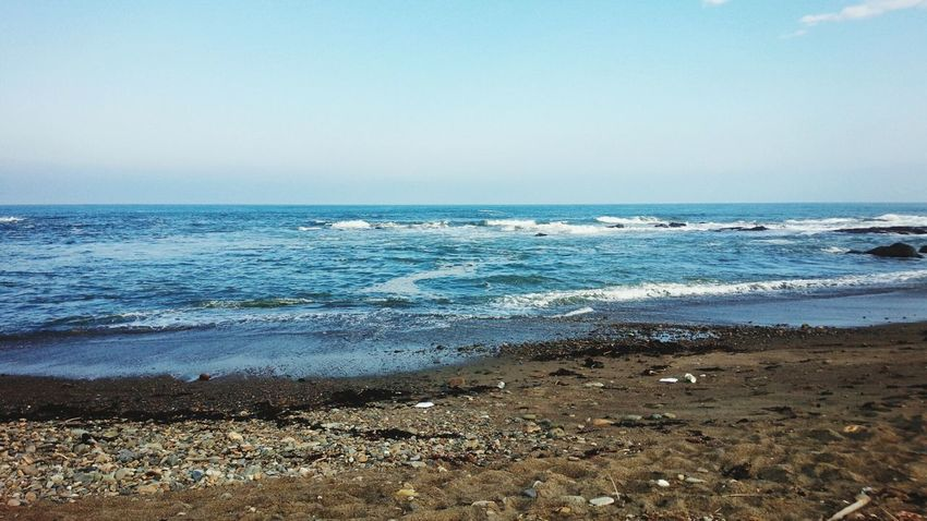 仕事サボって大洗の海に来た! Japan Ibaraki 大洗 海 Sea Beach Water Sand Horizon Over Water Wave Scenics