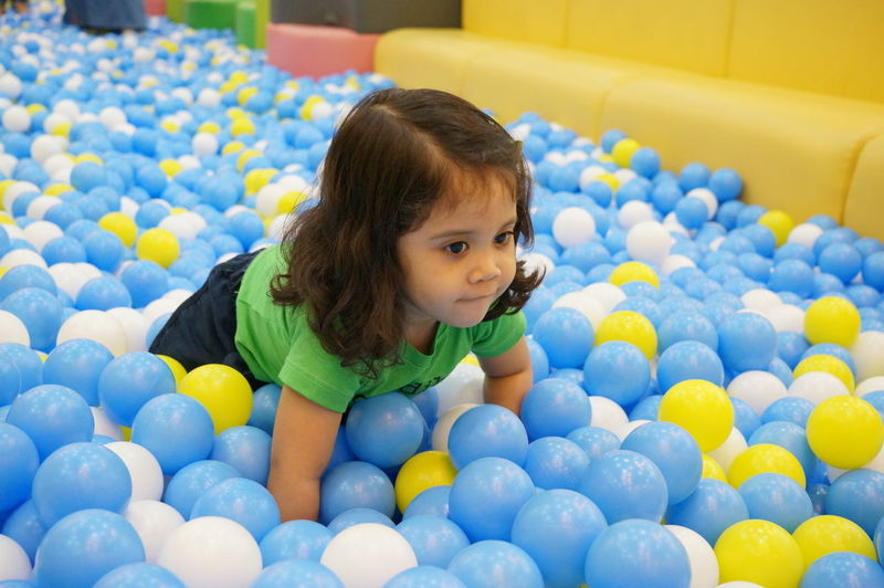 Fun Ball Ball Pit Child Childhood Crawling Cute Enjoyment Happiness Indoor Innocence Leisure Activity Playground Playhouse Smiling