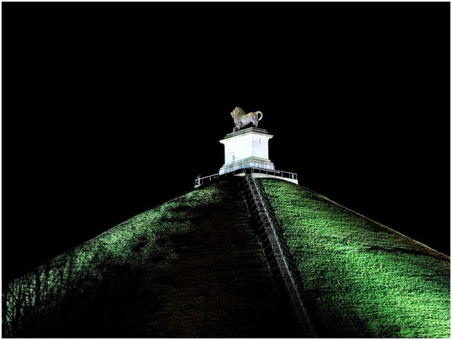 Waterloo Lion's Mound Butte Du Lion Lion Of Waterloo Taking Photos Nightphotography Night Photography Nikon D3000 Belgium. Belgique. Belgie. Belgien. Etc. Night Lights Historical Sights Historical Monuments EyeEm Gallery Braine-l'alleud, Monuments Monument Historique