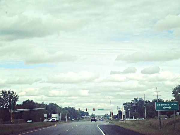 On The Road Sky And Clouds Enjoying Life