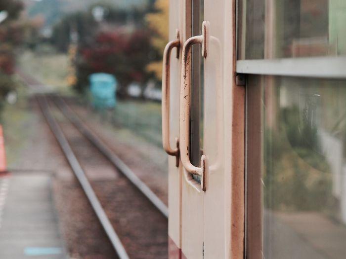 養老渓谷駅 Railroad Track Focus On Foreground Rail Transportation Metal Day Close-up No People Outdoors Public Transportation