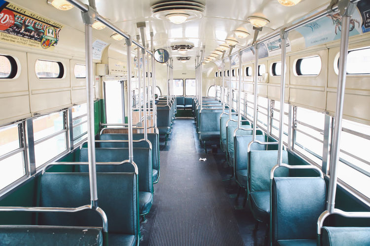 Interior Of Empty Tram