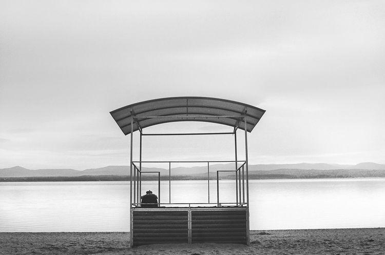 Analogue Photography Beach Black & White Lake Mountains Off Season Tranquility Fine Art Photography