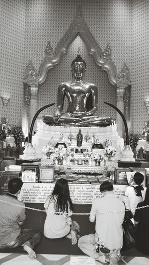Religion Statue Indoors  People Sculpture Day Lord Buddha Check This Out Photooftheday Indianphotography Bangkok Thailand Buddha Buddhism Temple Architecture Travel Travel Photography