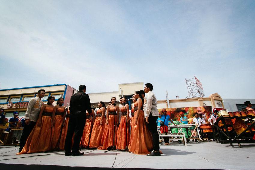 Adult Choir  Day Kadayawan Kadayawan 2016 Kadayawanfestival Large Group Of People Men Musician Outdoors People Real People Sky Um Chorale