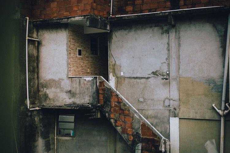 Stacked houses on top of each other in the rocinha favela, rio de janeiro - brazil