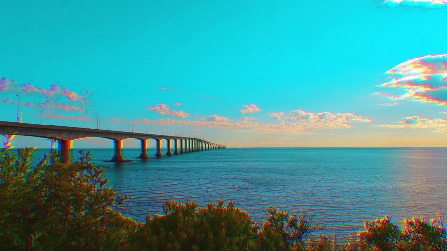 Sea Bridge - Man Made Structure Connection Sky Horizon Over Water Nature Scenics Transportation Outdoors No People Water Blue Tranquility Architecture Beauty In Nature Day