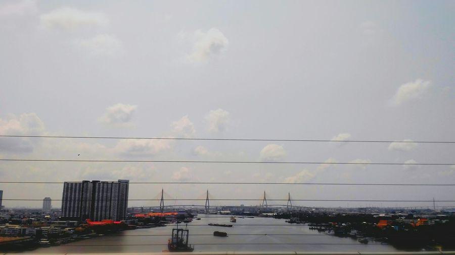 งานนอกสภานที่ Sky And Clouds River Bridge On The Road😴😴