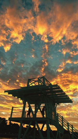 Sunset Sky Cloud - Sky No People Low Angle View Nature Outdoors Offshore Platform Beauty In Nature Architecture Coal Mine Day Geelong