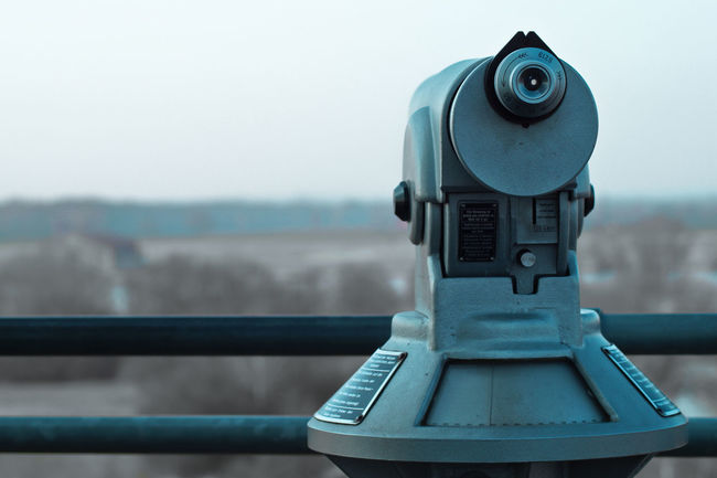 Beauty In Nature Blue Wave Close-up Coin-operated Binoculars Cropped Day Focus On Foreground Mode Of Transport Nature No People Outdoors Part Of Selective Focus Showing Imperfection Sky Up Close Street Photography