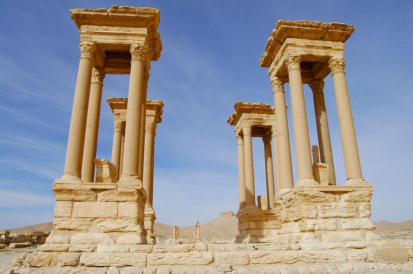 Palmyra Ruins - Syria Palmyra Ruins Syria  Ancient Civilization Archaeology Architecture Old Ruin Palmyra Roman