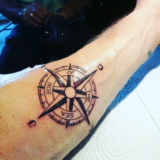 New Tattoo from Nori / Black Pearl Tattoo Tattoo Tattoos tattoo life Kompass Compass